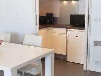 Cuisine et salle à Manger d'un appartement vue mer
